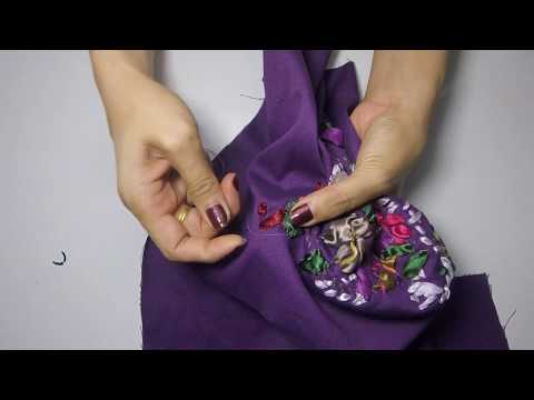 Handbag with Ribbon Embroidery Tutorial Part4