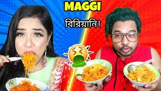 I Only Ate Maggi For 24 Hours   এই প্রথম Maggi বিরিয়ানি বানালাম   Nilanjana Dhar Challenged Me😤