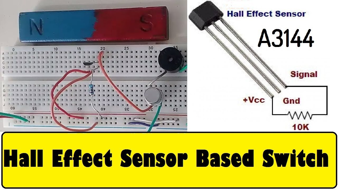 Hall Effect    Sensor    A3144 Magic Switch    Circuit