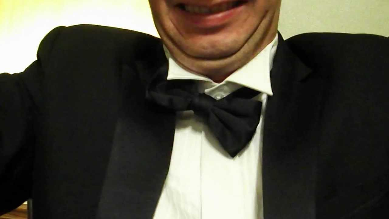 White Dress Shirt With Black Bow Tie Youtube