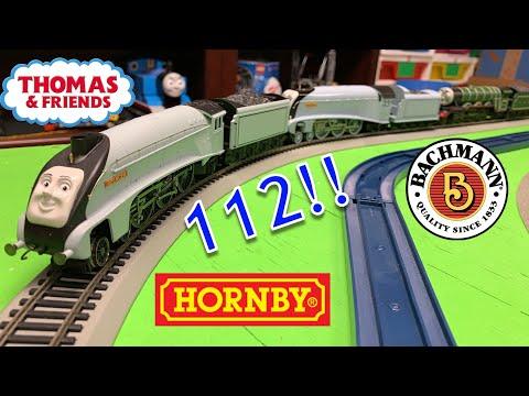 WORLD'S LONGEST THOMAS & FRIENDS TRAIN! 112 Hornby & Bachmann Trains!