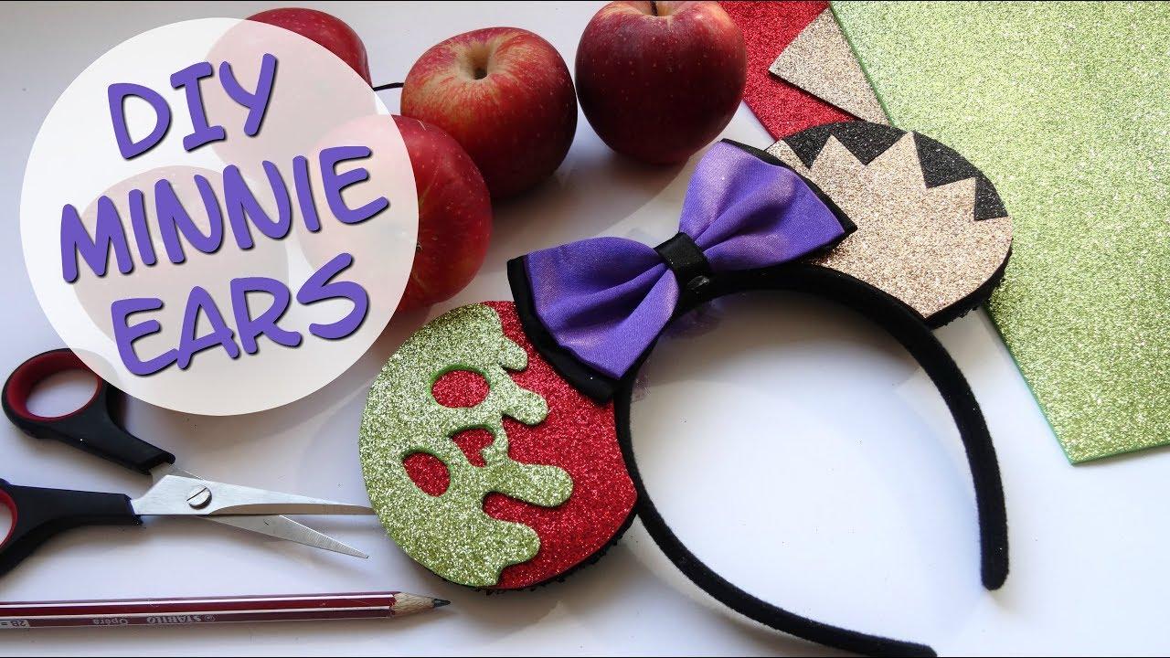 Diy Minnie Mouse Ears Evil Queen Disney Villains Halloween Series