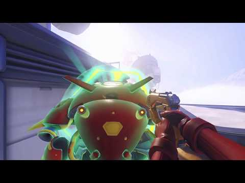 Every OWL2018 D.Va skin in first person (Gold Weapon)