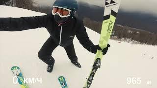Стоят ли экспертные горные лыжи своих денег? Тестирую слаломки Volkl Racetiger sl 165 в Горки Город