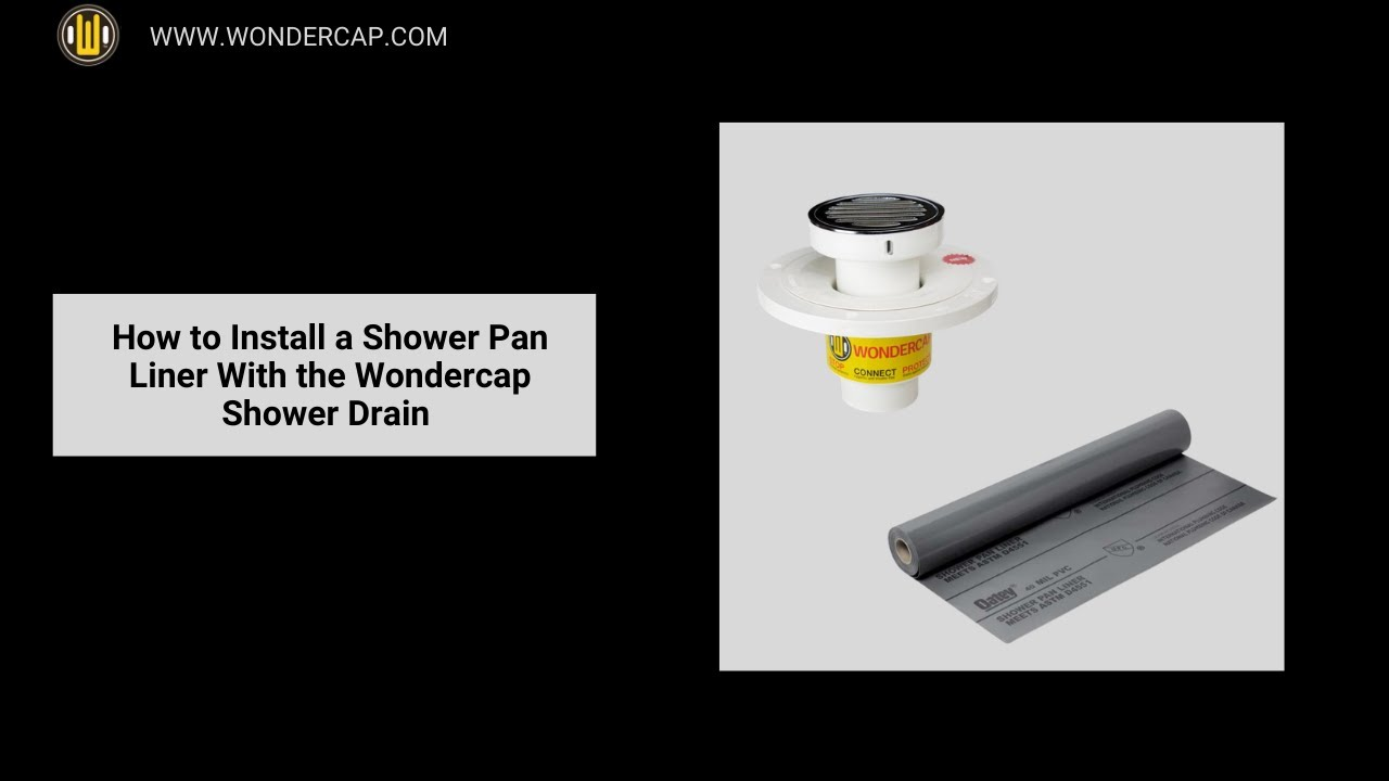 Wondercap 2-inch All-In-One Shower Drain w//Square Chrome Plated Brass Strainer The Wondercap Company