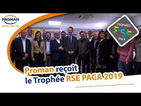 Trophée 2019 des RSE PACA - PROMAN