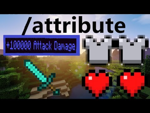 How to use attributes in Minecraft 1.16.5! (special items, infinite health/armor)