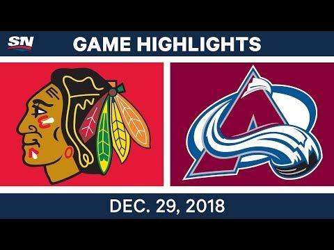 NHL Highlights | Blackhawks vs. Avalanche - Dec 29, 2018