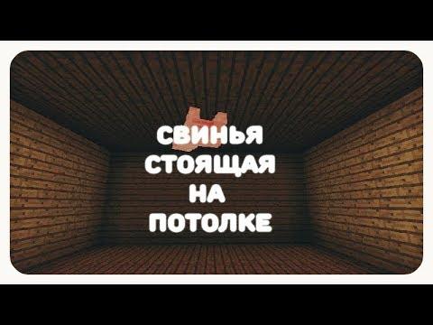 видео: Декорации майнкрафт пе 1.2 (Свинья стоящая на потолке)