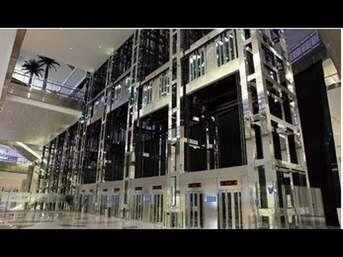 9000KG Cap. Fujitec Observation Elevators @Dubai International Airport, United Arab Emirates