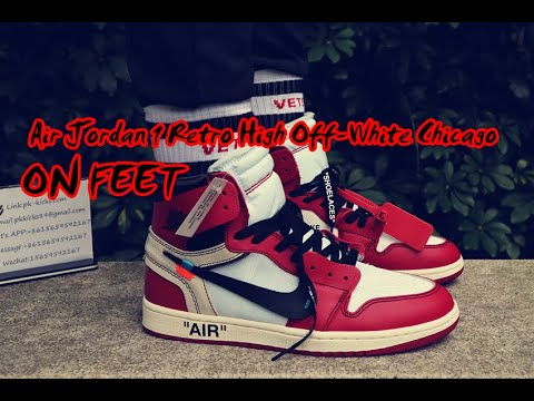 e7ce30d97ce Air Jordan 1 Retro High Off-White Chicago (ON FEET) - YouTube
