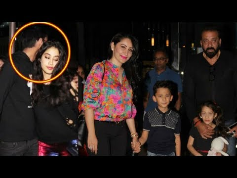 Sanjay Dutt with Family and Jhanvi Kapoor Spotted At Yauatcha Restaurant In Mumbai