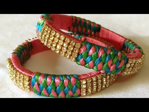 New Silk Thread Bangles Making At Home Diy Silk Thread Bangles