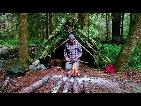 Solo Survival Shelter Vancouver Island Overnight