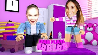 ROBLOX Little Leah Plays - TROLL REACTION FROM MY REAL LIFE BABY BROTHER - MEEP CITY PRANK!!