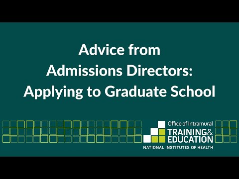 Advice from Admissions Directors: Applying to Graduate School