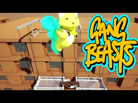 Gang Beasts - Lets Fly to the Rooftop [Father and Son Gameplay]