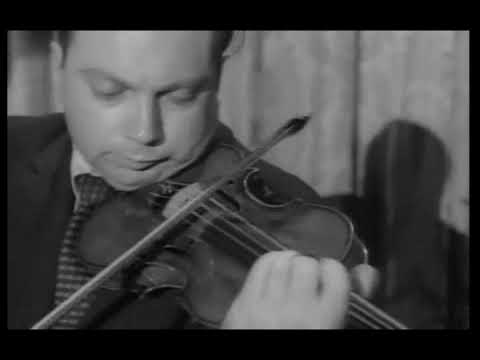 (Vintage clips) Isaac Stern plays Wieniawski Polonaise No. 1 in D Major
