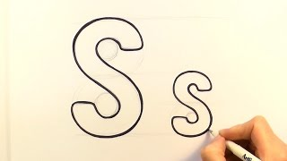 How to Draw a Cartoon Letter S and s