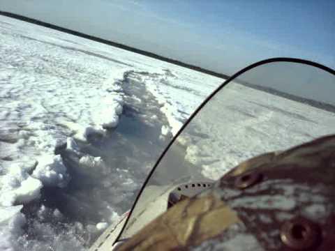 Снегоход МВП-500 снег с водой