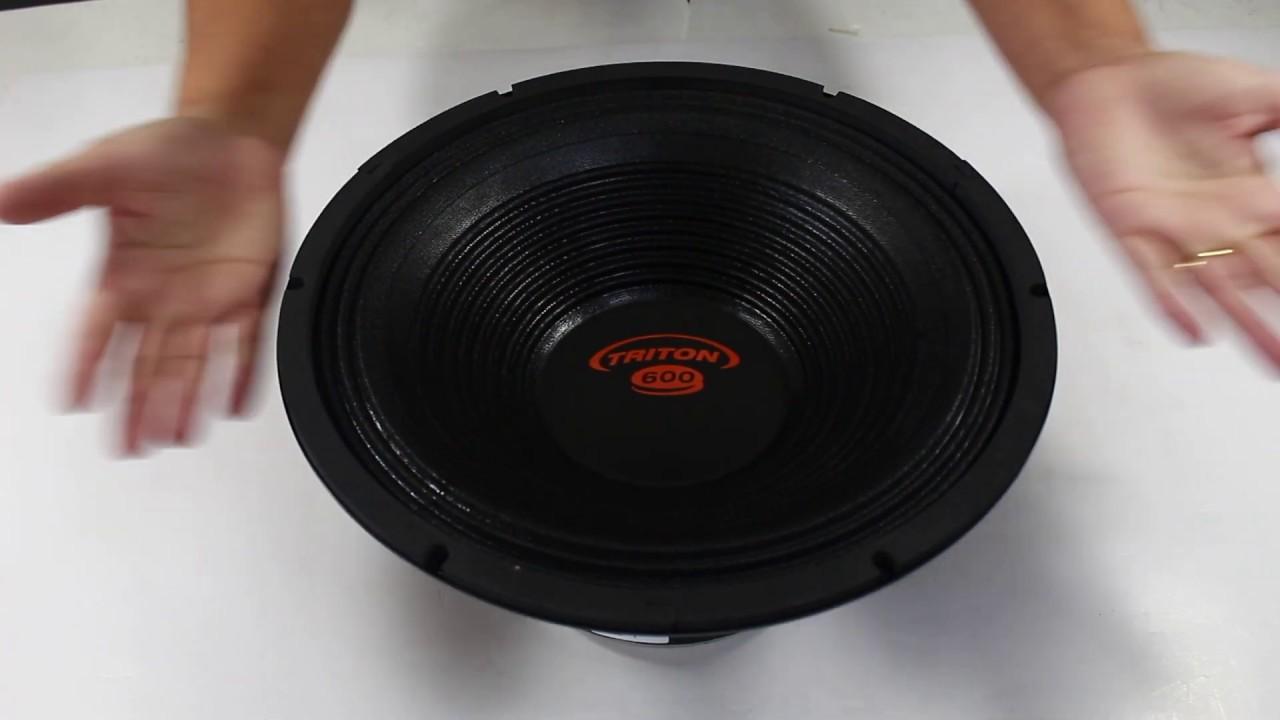 022fc8f15 Woofer 12 Polegadas Triton 600 Rms TR-12600 1200w Pico. Amo Carro