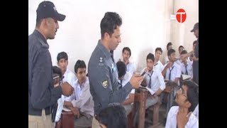 Police intervenes to stop cheating at exam centers in Sukkur