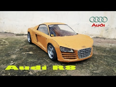 WOW! Audi R8|| How to make Audi R8 car with cardboard|| DIY|| Electric toy car
