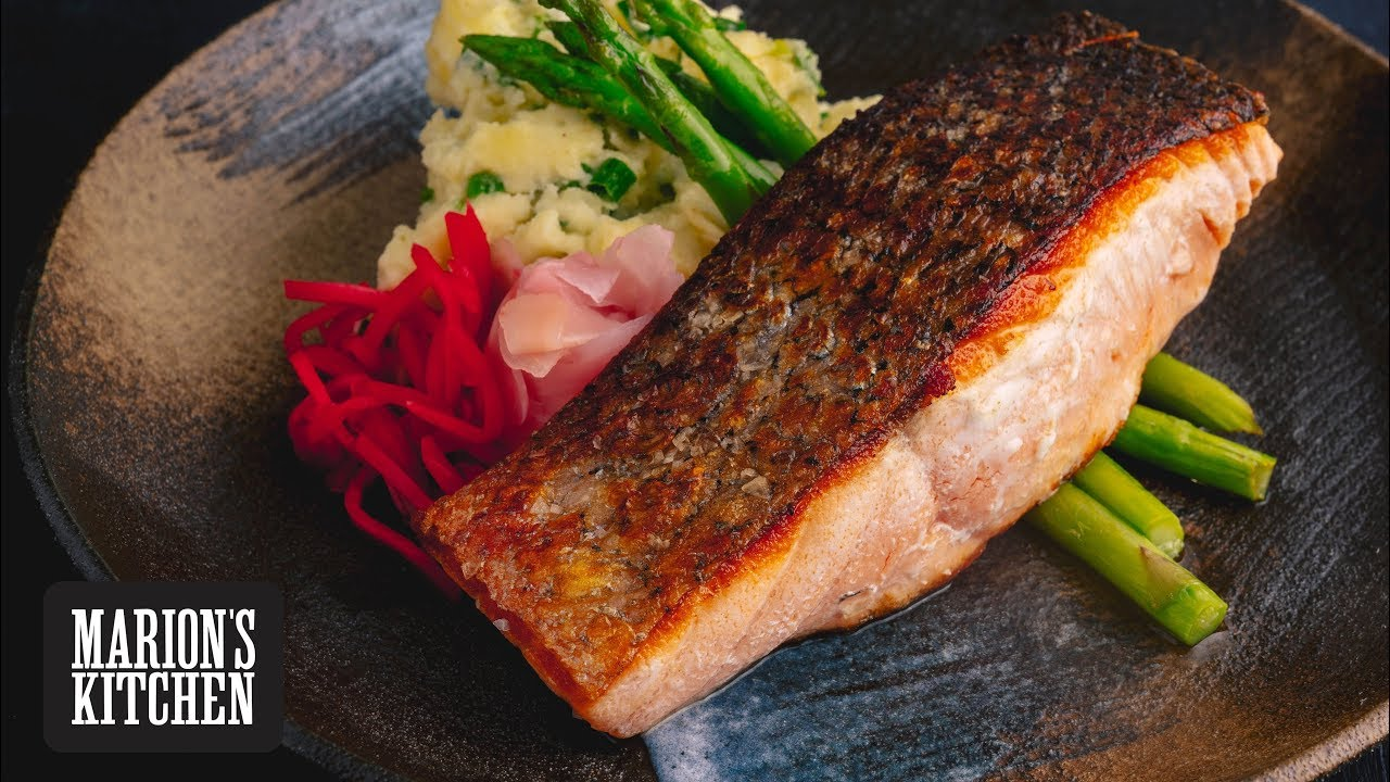 How To Make Restaurant Style Crispy Salmon Marion S Kitchen