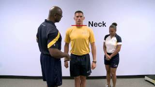Official Navy PRT Body Composition Assessment Demonstration