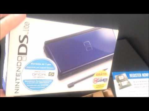 Nintendo DS Lite - Azul e Preto - Cobalt Black - Na Caixa