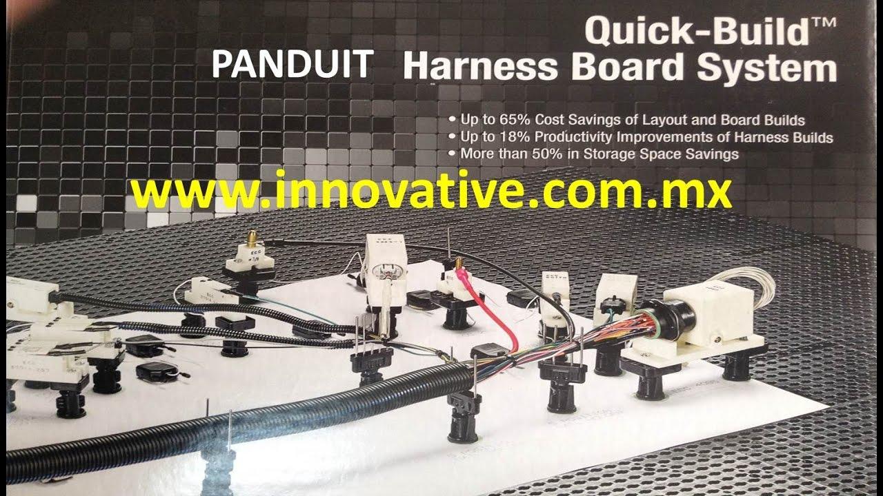 sistema modular quick build para fabricar harneses panduit [ 1280 x 720 Pixel ]