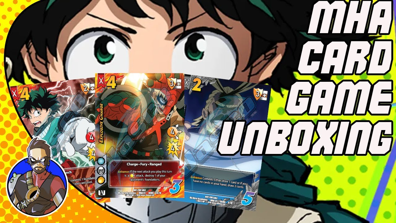My Hero Academia Card Game Universus Card Game Unboxing Youtube