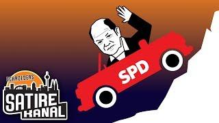 """Florian Schroeder: """"Volle Fahrt bergab! – Olaf Scholz und der SPD Vorsitz."""""""