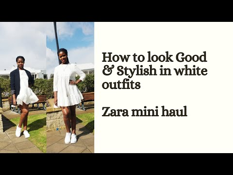 Zara Min Haul/How To Wear White Outfits/white Outfits Styling Ideas