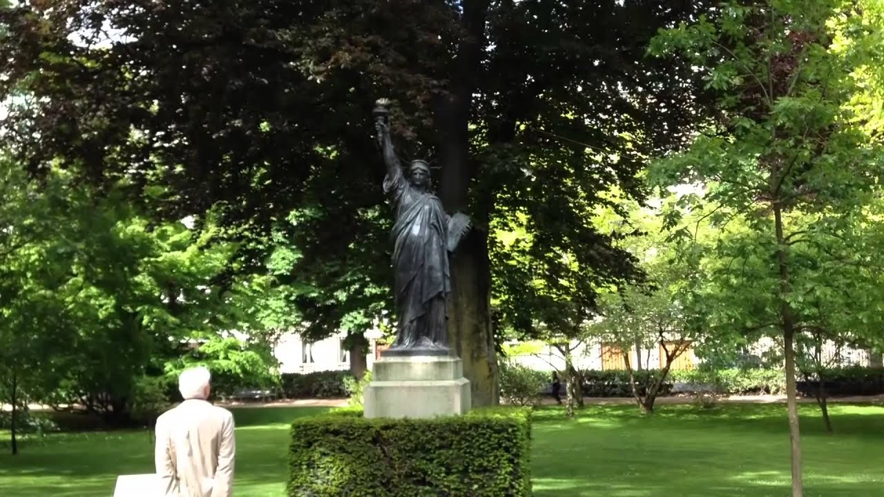 Statue Of Liberty In The Luxembourg Gardens Short Youtube