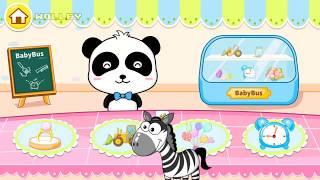 Repeat youtube video Baby Panda Magic Brush - Help The Cute Panda Repair The Items! - Fun Baby Bus Games For Children