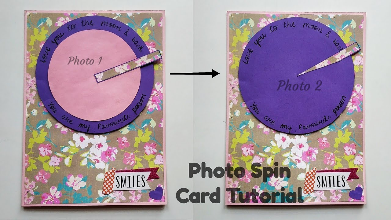 Photo Spin Card Tutorial Spin Card Photo Changing Card By Crafts Space Youtube Card Tutorial Box Cards Tutorial Space Crafts