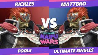 Naifu Wars 12 Pools - Rickles (Ganondorf) Vs. MattBro (Ganondorf) SSBU Singles