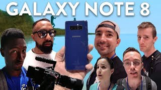 Galaxy Note 8: YouTubers REACT!