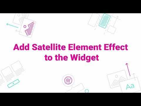 How to Add Element Satellite Effect to the Widget
