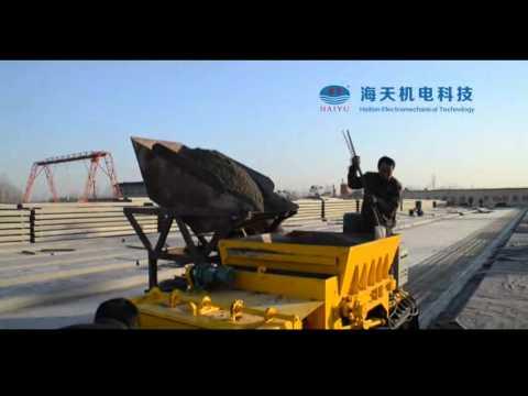 Prestressing hollow core slab machine HTY300x1200