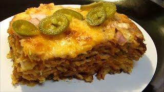 Beef Enchilada Casserole - Mexican Lasagna