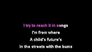 Hopsin - Nocturnal Rainbows (Karaoke Instrumental) On Screen Lyrics