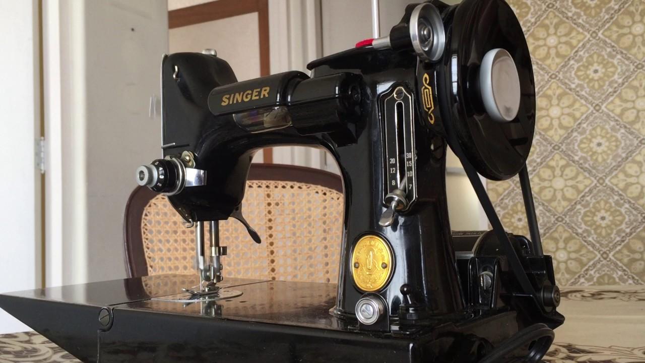 Máquina de coser portátil eléctrica Singer - YouTube