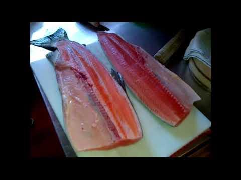 how to make salmon sashimi at home