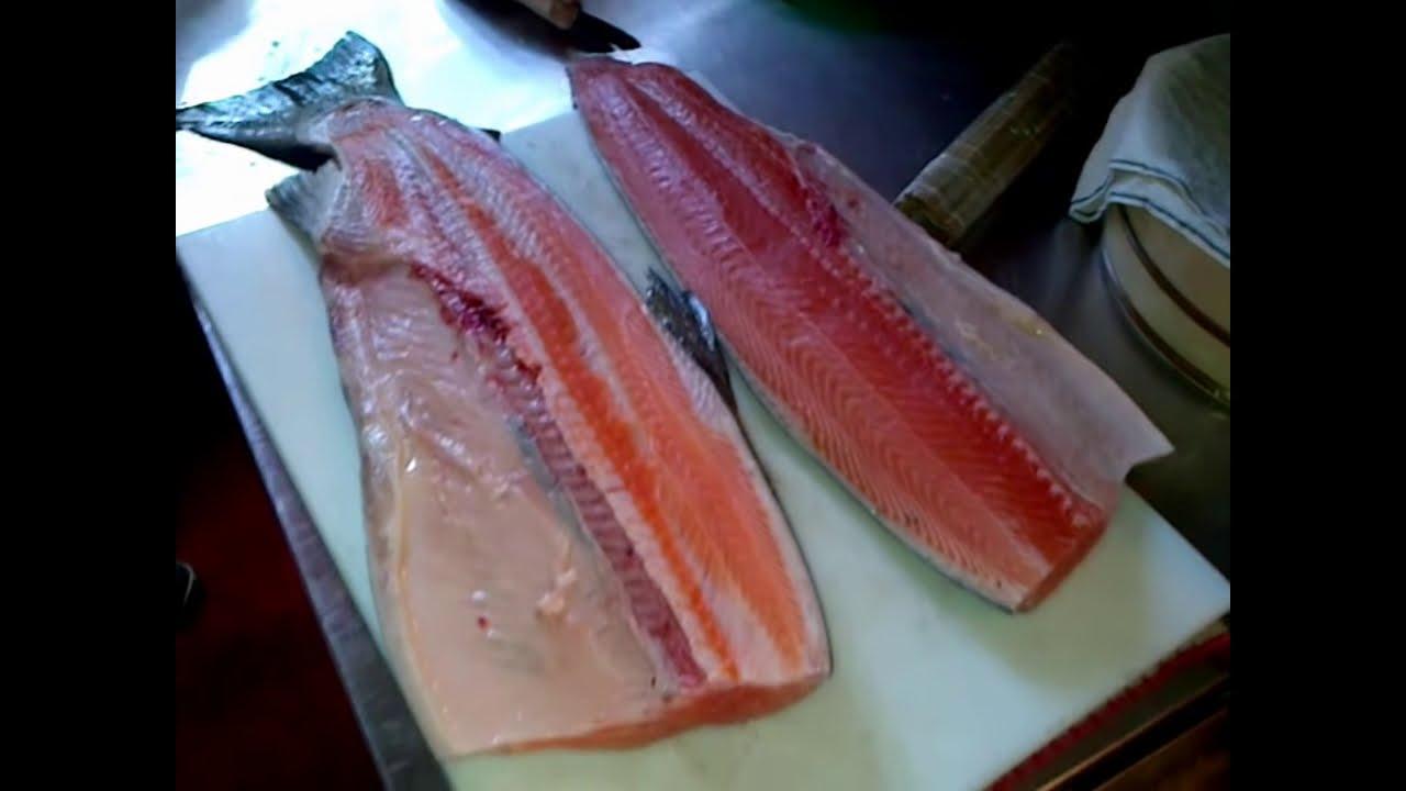 How To Make Salmon Sashimi  How To Cut Salmon