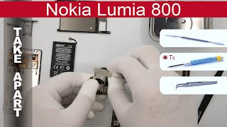 How to disassemble Nokia Lumia 800 (RM-801, RM-819), Take Apart, Tutorial(How to disassemble Nokia Lumia 800 (RM-801, RM-819) by himself. Disassembly (take apart) and repair smartphone Nokia Lumia 800 at home with a minimal ..., 2015-03-21T02:49:11.000Z)