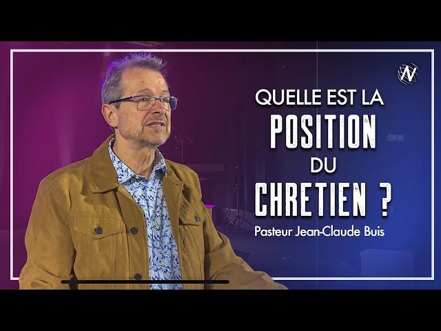 Quelle est la position du chrétien ?  - Jean-Claude Buis  - Eglise Novation / Agen