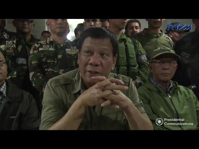 Duterte to lift martial law 'when it's safe in Mindanao'