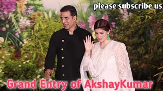 #2.0 AkshayKumar and wife Grand Entry in Sonam Kapoor Wedding Reception